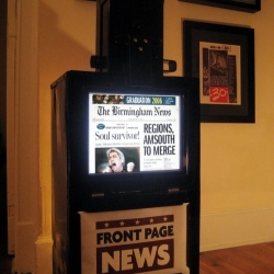 the digitalbox combines modern news reading technology with an old newspaper vending machine.