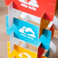 Spring advertising's playful identity work for the toy store Dilly Dally.