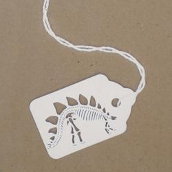 Michael J Lomax's  Dinosaur Tags Papercuts