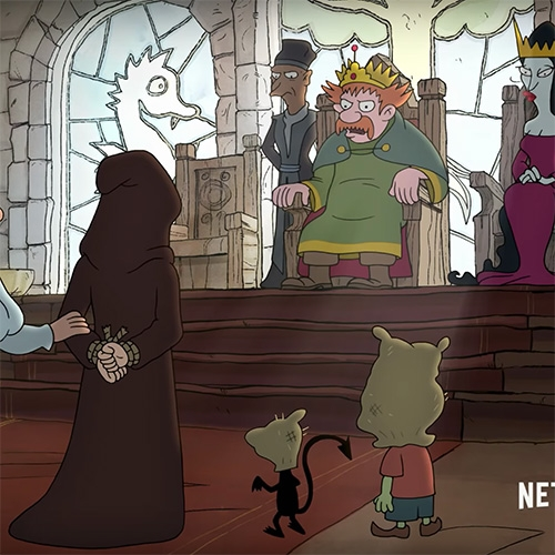 Disenchantment! Matt Groening's third animated series is coming to Netflix in August following the misadventures of a hard-drinking princess, her feisty elf, and personal demon.