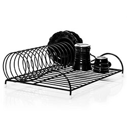 Diskställ Spiral svart designed by Caroline Ramberg for Design Torget. Beautiful dish rack in black or white.