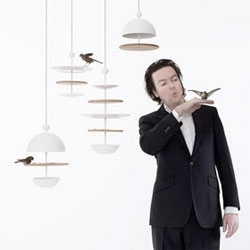 "Frederik Roijé's new series of bird feeders, called ""Dish of Desire""."