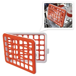 Oxo Mini Dishwasher Basket! With stretchy silicon sides ~ you can put all the random small objects going in the wash in it! (Sure its for baby accessories, etc ~ but so versatile!)