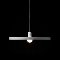 Disk is a clean pendant lamp by Jean-François d'Or. Produced by tossB.