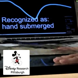 Touché ~ Disney Research is taking Capacitive Touch Sensing to the next level... recognizing gestures on objects, underwater, or simply between your hands...