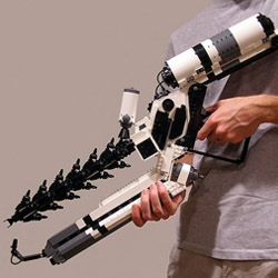 A wicked cool life-sized District 9 Arc Gun made from Lego blocks!