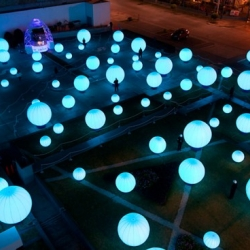 DJ Light - a public sound and light installation that gives visitors the power to orchestrate a performance of light and sound across a large public space.