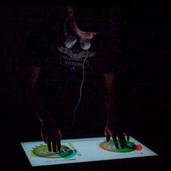 New technology for DJ's, called the Multi Touch Light Table, built by Gregory Kaufman.