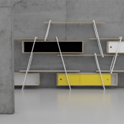 An easy to expand shelving system by German design studio DLF.