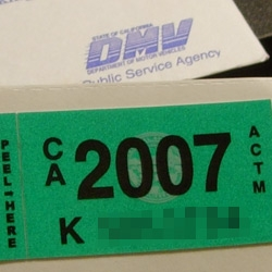 DMV stickers for 2007 are a nice kelly/emerald green. Yeah, it's the little things that make me happy. so what. Can't wait to replace that ugly red sticker that doesn't match my car.