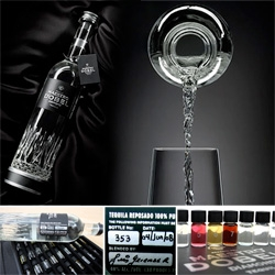 Maestro Dobel Diamond Tequila sent over not only a bottle, but also an incredible aroma set filled with 50 gorgeous tiny little numbered vials ~ check out the pics!
