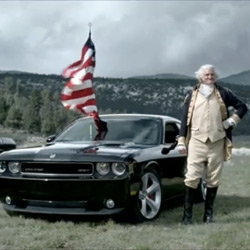 """Dodge unleashed a historic commercial in honor of the World Cup match between England and the US. The 60 second spot is labeled """"Freedom"""" and features the 2010 Challenger SRT8 (waving the red, white and blue) going up against the Redcoats."""