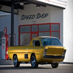 I like cars from the future. This one is the Dodge Deora Concept from 19…hummmm…1965??? Just a small detail…you can only get into this through its windshield.