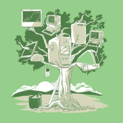 """Doesn't Fall Far From the Tree"" t-shirt by Graphicairlines for Apple lovers"