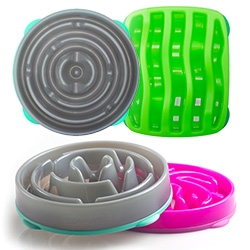 New Slo-Bowl Slow Feeders by Dog Games. Nature-inspired designs to help dogs eat at a natural pace.