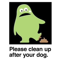 "Jeff Jarvis' Amos blog has some great PSA's - here's ""Please clean up after your dog"" ~ i also love ""Please mind your language"" with the spew of colorfulness"