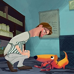 A lovely animated short about a dog and a butcher.