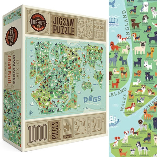 Dogs Make The World Go Round by True South Puzzle Company