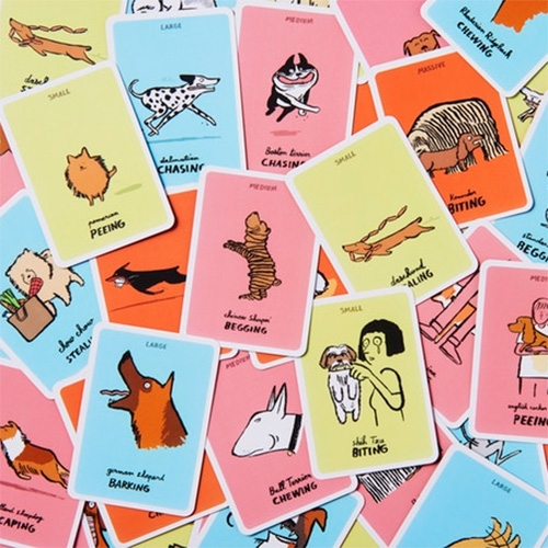 Dodgy Dogs! A card game illustrated by Jean Jullien, created by Yolky Games. Currently on Kickstarter (just backed by NOTCOT!)