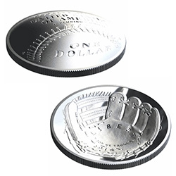 US Mint's first curved coin - 2014 National Baseball Hall of Fame Commemorative Coin