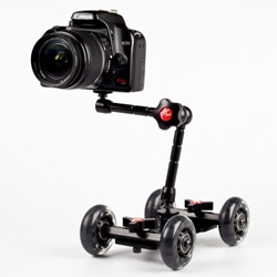 "Camera Table Dolly - ""It's a compact table-top camera dolly that will give your videos a professional look and experimental edge."""