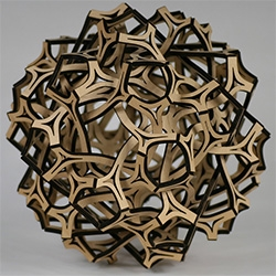 George Hart's Snarl Wood is made from  twenty identical pieces...