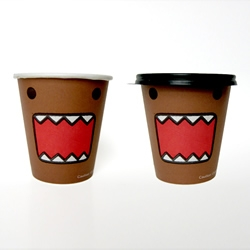 Domo, the Japanese stop-action character and meme celebrity, is appearing this fall in an elaborate 7-Eleven storewide promotion, including collectible Slurpee cups, character straws, coffee cups, and hot dog containers.