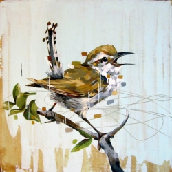 Awesome artist Frank Gonzales has some wonderful paintings with birds.