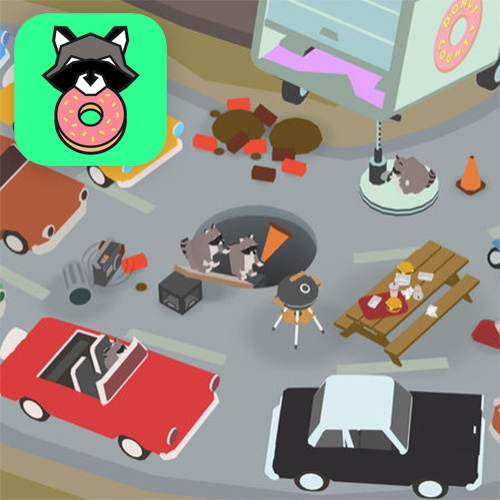 "Donut County! A new game by Ben Esposito comes out today. This is ""a story-filled physics puzzle game where you play as a hole in the ground."" - like an inverted Katamari? (And it's filled with adorably cute raccoons!)"