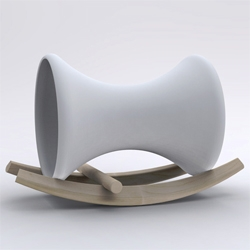 London studio Doshi Levien present this child's rocking horse at imm cologne for Richard Lampert.