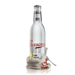 Bassano Hard Soda, a vodka-based drink with great packaging from Dossier Creative.