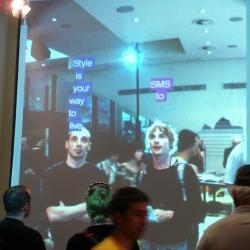 interactive mirror at zona tortona, milan. Think like no one by dotdotdot