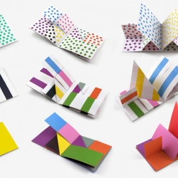 Dots, Lines and Colors, a colorful series of minimal, origami-like books by Spanish graphic artist Antonio Ladrillo.