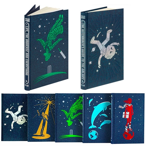 Complete Hitchiker's Guide To The Galaxy by Douglas Adams, the Folio Society edition with covers illustrated by Jonathan Burton.