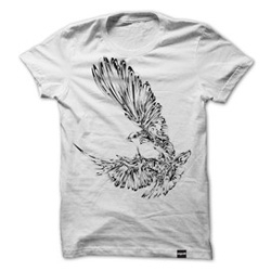 ORIGIN68 have teamed up with Manchester based illustrator and general design guru Si Scott to bring you this slice of tshirty goodness ~ gorgeous DOVE!