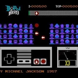 D-Pad Hero is a brand new NES emulation game that converts Guitar Hero into old skool 8-bit Nintendo. Plus, you can play it to Michael Jackson. It's unspeakably awesome.