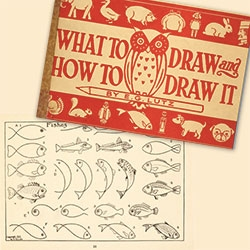 What To Draw and How To Draw It from 1913 - flip through the full scan of the book on the Public Domain Review