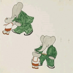 "I loved Barbar as a kid and was pleased to hear about""Drawing Babar: Early Drafts and Watercolors,"" a new exhibit at the Morgan Library and Museum through Jan. 4, 2009."