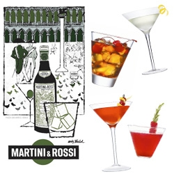 Martini & Rossi bring back their 50's/60's ads by Warhol ~ and launch a playful set of Martini Factory Drinks! The vintage ads are really fun to check out!