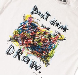 t-shirt designed by Fred Babb.  friends don't let friends draw drunk.