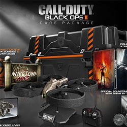 """Activision's Call of Duty Black Ops II Care Package comes with a """"Remote Controlled Quadrotor Drone and Stand""""!!! as well as a bunch of other goodies."""