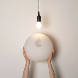 The fight against bare bulbs rages on with Droog's new Hang on Easy design by Ransmeier & Floyd.