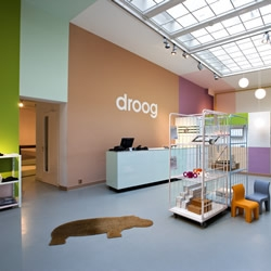 Droog's flagship store in Amsterdam showcases their innovative household objects in a beautiful gallery-like space.