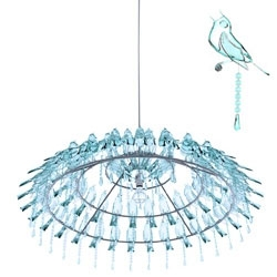 Wyatt John Little's 'Bird Poop Chandelier' with playful pendants.