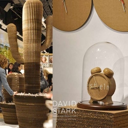 Cardboard Cacti! And other mundane objects... Design*Sponge has a great look at the David Stark for West Elm opening/silent auction in the new Manhattan shop