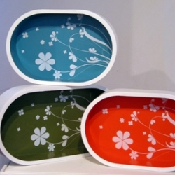 Samira Gagne's trays over at the D*S shop are on a run in part to being featured in Lucky! They are incredibly gorgeous ~