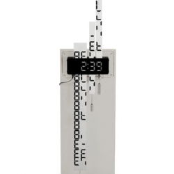 Duncan Shotton's Digimech clock uses printed sliders to reveal digital numbers at the right moments.