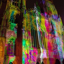 A massive projection, generated by the collective sounds of the public, that lights up the facade of York Minster.