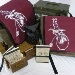 Amazing Gift Set from Swift Industries - Pannier, Boneshaker subscription & artwork by Karl Addison.