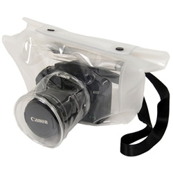 This Transparent DSLR Camera bag let you take pictures in the rainy day, comes from Japan.